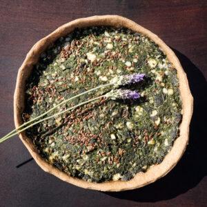 Tarta de hojas verdes de la huerta